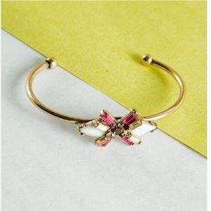 Mint and magenta cuff bracelet